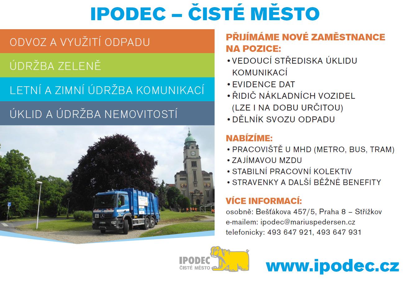 Pracovní nabídka IPODEC