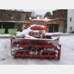 Road snow blower
