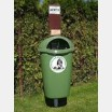 Plastic litter bin for dog excreta 50l